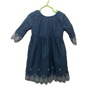 Old Navy Toddler Girl's Denim Embroidered Dress 3T